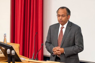 Professor Rama Thirunamachandran (VC of CCCU) giving the opening address