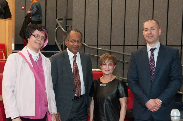 From left to right: Professor Bee Scherer (Director of INCISE), Professor Rama Thirunamachandran (Vice-Chancellor of CCCU), Professor Naomi Goldenberg (Ottawa University) and Dr Keith McLay (Dean of Arts and Humanities)