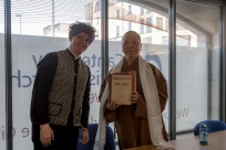 Professor Bee Scherer (Director of INCISE at CCCU) and Venerable Miao Shiang (Abbess of Fo Guang Shan London)