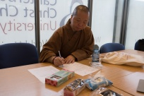 Meeting to organise the workshop: Focusing on Humanity (人間): Buddhist living in/and/for Contemporary Society (Ven. Miao Shiang - Abbess of Fo Guang Shan London)